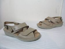 FINN COMFORT JERSEY SOFT MARBLE IDAHO LEATHER WOMEN'S SANDALS 39 US 8.5 GERMANY