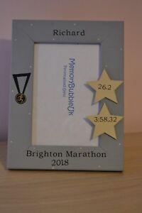 Personalised handmade photo frame - RUNNING - marathon, half, 10K, 5K gift