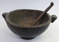 Antique Museum Quality Bowl with Spoon Ifugao Tribe N. Philippines RARE