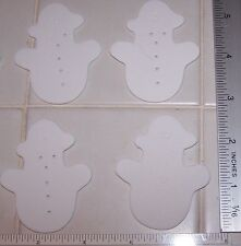 Lot Of 18 White Snowman Foam Shapes 2 Inch 2""