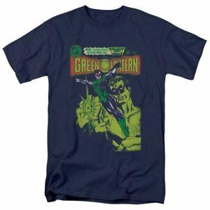 Green Lantern Vintage Cover T Shirt Mens Licensed DC Comics Tee Navy