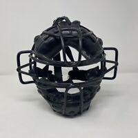 Vintage Leather & Metal Baseball Catchers Mask Rawlings PWM-1 Black