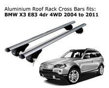 Aluminium Roof Rack Cross Bars fits BMW X3 E83 07/04 to 02/11