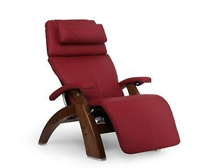 Red Leather PC-600 Omni-Motion Silhouette Human Touch Perfect Chair Recliner WAL