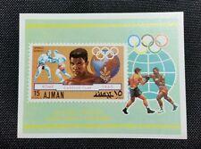 2 1972 Ajman Olympic Boxing Cassius Clay Muhammad Ali Stamp Souvenir Sheets Mint