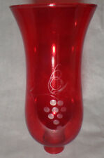 """Grapes Cranberry Glass Hurricane Lamp Shade Candle Chandelier Light, 5"""" x 10"""""""