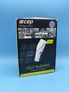 CEP Calf Sleeves Womens Socks Size OS, Color: Black/White size IV