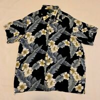 David Taylor Collection Shirt Casual Size XL Floral Short Sleeve Hawaiian