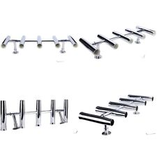 5 Tube Adjustable Stainless Rocket Launcher Rod Holders , Can be Rotated 360 Deg