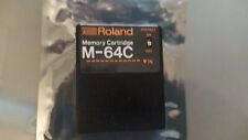 Roland M64C Memory Card For TR909 JX10 MKS80-70 TR707-727 GR700