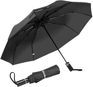 Newdora Ombrello Portatile Automatico Antivento Compatto Resistente con Custodia