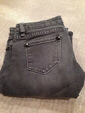 grey BLANK denim low rise distressed skinny jeans with studded pockets size 25