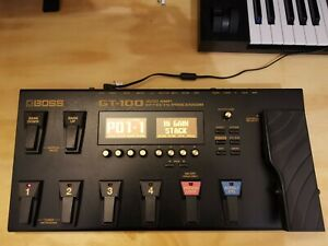 Boss GT-100 Multi-Effects Guitar Processor Pedal v2, boxed complete, barely used