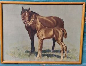 Vintage Horse Prints C.W. Anderson Thoroughbred Mares & Foals – 1950s