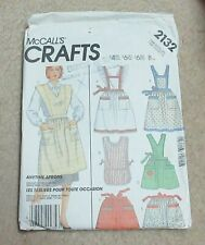 Vintage McCall's Ladies APRON Pattern 2132 one size