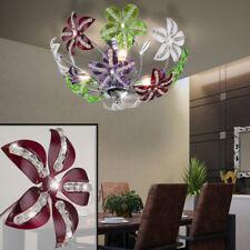 Plafonnier Salon Cristal Spotlight Blossom Flora Lampe Chrome Éclairage noble