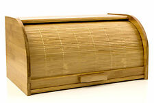 Bread Box Pastry Storage Bread Storage Roll Top Made out of Organic Bamboo