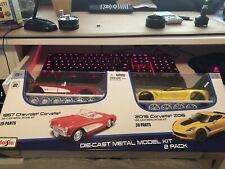 Maisto Model Kit  (2015 Corvette Z06 And 1957 Chevrolet Corvette) damaged box