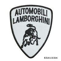 Lamborghini Car Brand Logo Racing Embroidered Patch Iron on Sew On Badge