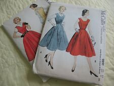 Lot Vintage Sewing Patterns Teen Size Jr Miss Dress, Jumper, Blouse 1950's F-F