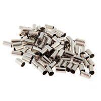 HU 100pcs Embout Gaines Fixation Cable Frein Vitesse 5mm Metal Argent pour Velo