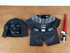 Build a Bear Darth Vader 3-Piece Outfit with Lightsaber Costume BAB