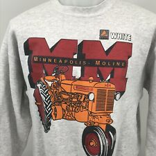 Minneapolis Moline Vtg Tractor Farming AGCO Agriculture 90s Mens XL Sweatshirt