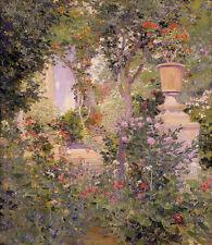 Oil painting jose benlliure y gil - el jardin del autor the garden of the author
