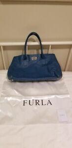 FURLA - Blue Ostrich Leather Handbag (Pre-Owned)