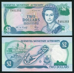Bermuda 2$ 1997.06.06. QEII Royal Naval Dockyard Clock Towers Hamilton P40Ab UNC