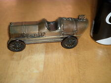 OLD RACE CAR, BANK ADVERTISING Diecast Metal Toy Coin Bank, Scale 1:25 #1974 yr.