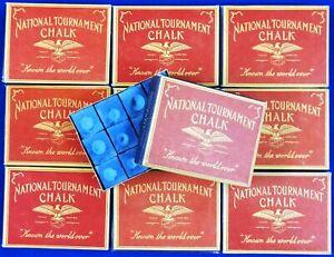 "National Tournament Chalk ""VINTAGE 1950-60's"" ~ 12 pieces in BOX Color: BLUE"