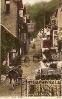 CLOVELLY HIGH STREET DEVON New Inn Pub - Postcard  (GRN)