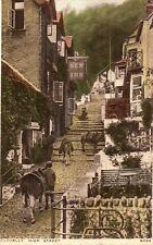 Vintage Postcard CLOVELLY HIGH STREET DEVON New Inn Pub Unposted  (GRN)
