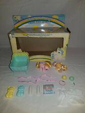 My Little Pony G1 Newborn Twins Nibbles Dibbles ITALIAN VARIANT BOX *COMPLETE*
