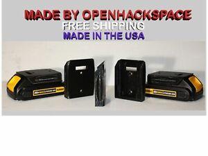 2 Pack Dewalt 20v / 60v Battery Mount Holder Bracket - Dust Cover / Made in USA
