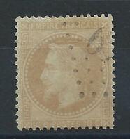 France N° 28A Obl (FU) 1867 - Napoléon III lauré