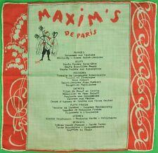 """""""Maxim's de Paris Linen 'Sem' Menu Napkin"""""""