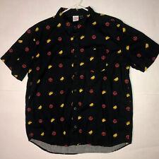 Marvel Deadpool Taco Black Button Up Shirt XL