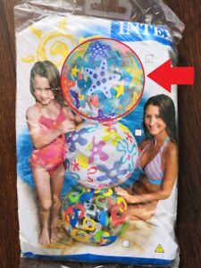 """New inflatable beach ball 24"""" by intex 2011 year!"""