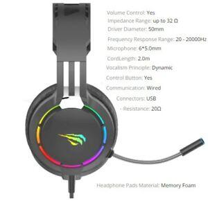 Headphone for Gamer For PS4 PC + HeadSet - Black