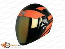New Steelbird Air SBA-2 Full Face Motorcycle Helmet Safe Stylish Black Orange