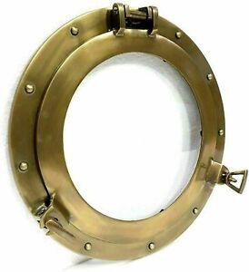 """12"""" Maritime Antique Porthole Round Window Glass Nautical Boat Ship Porthole"""