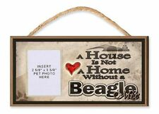 A House is Not a Home Without a Beagle Mix Dog Sign w/ Photo Insert by DGS