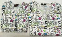 Lot of 2 MELROSE May Hill Uniforms  Size S Small Scrub Top Live Love Laugh Text