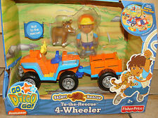 Go Diego Go To The Rescue 4 Wheeler Safari Rescue Playset Nick Jr Fisher Price