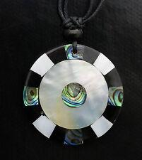 Collier ethnique avec pendentif nacre - Bijoux fantaisie pas cher - BB591-A78