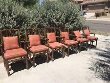 RARE Mid Century Vintage McGuire San Francisco Bamboo Rattan Chairs Set Of 6