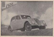 Z7042 Automobile FIAT 1500 - Pubblicità d'epoca - 1939 vintage advertising