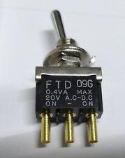 Te Connectivity FTD09G Miniatura Interruttore a Levetta Spdt 0.4VA,20VAC / Dc